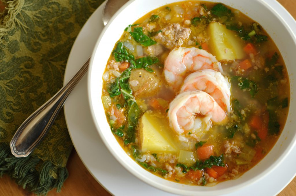 shrimp quinoa soup