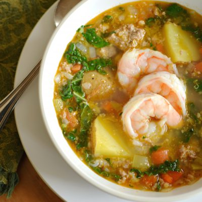 Shrimp & Sausage Soup with Quinoa