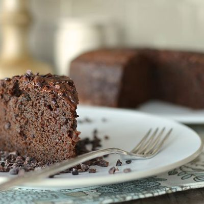 Gingerbread Porter Cake with Cacao Nibs