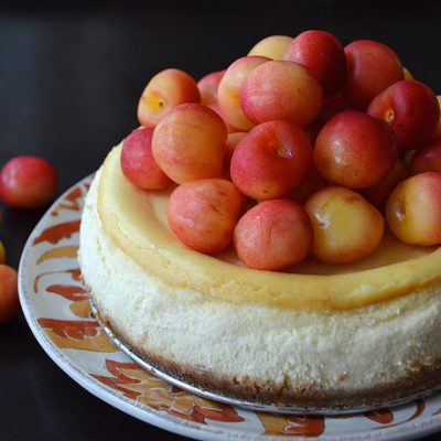 Rainier Cherry Cheesecake