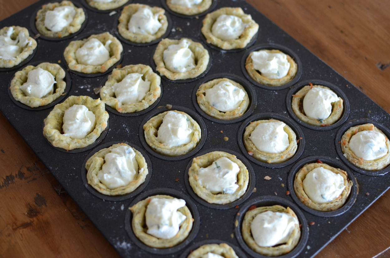 goat cheese filling in tarts