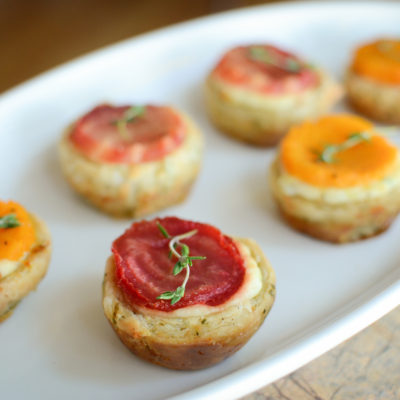 Goat Cheese Tartlets with Beet and Butternut Squash