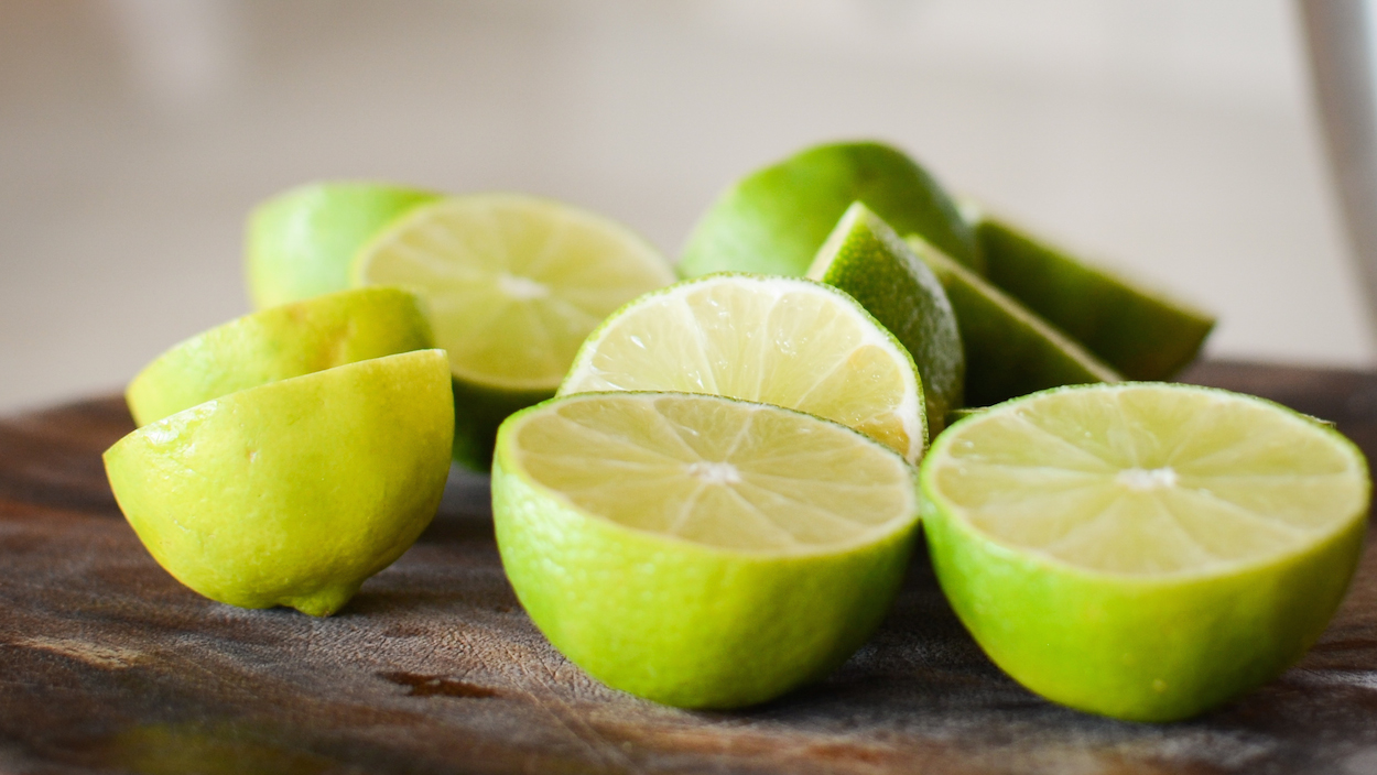 cut limes for lemon lime tart