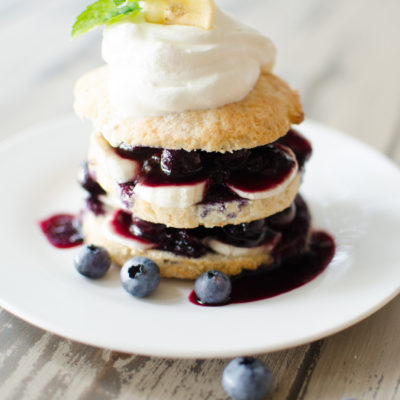 Blueberry Banana Shortcakes
