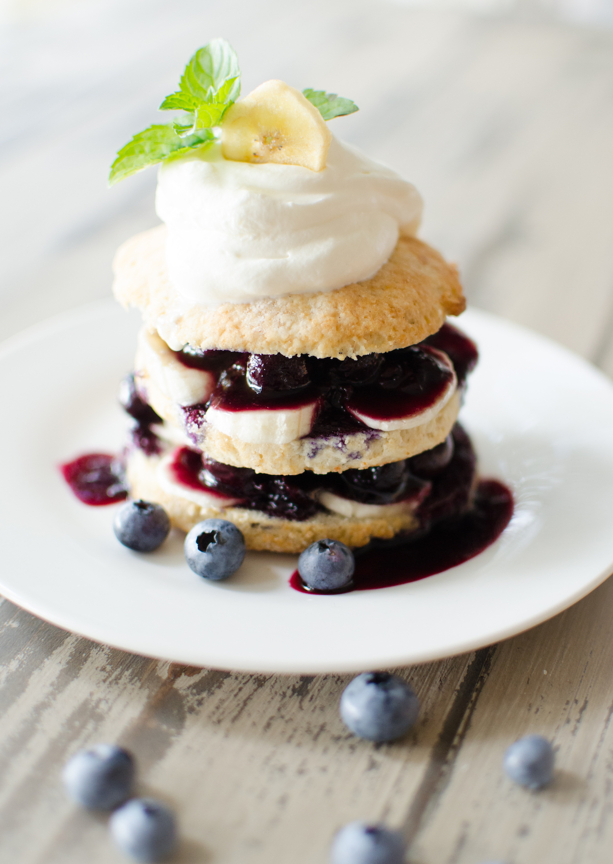 blueberry banana shortcake