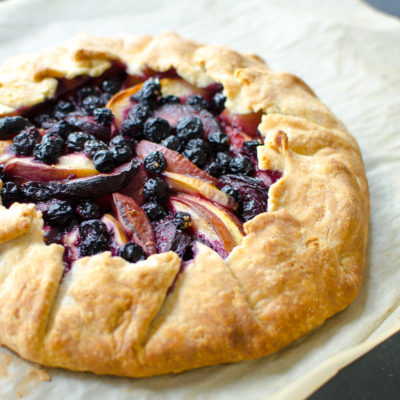 Stone Fruit, Blueberry & Frangipane Galette