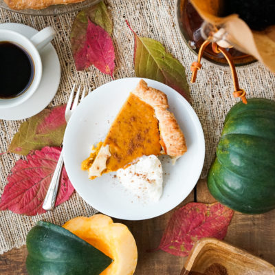Five Spice Buttercup Squash Pie