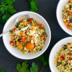 Bulgur Salad with Feta and Garden Veggies