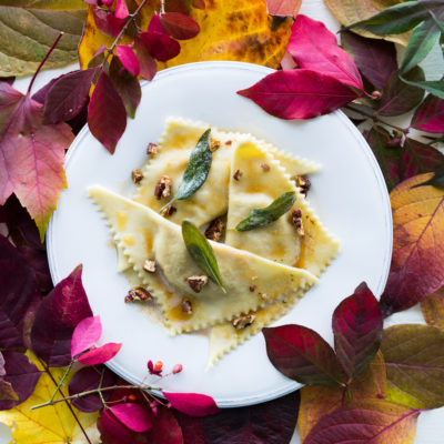 Delicata Squash Ravioli with Brown Butter
