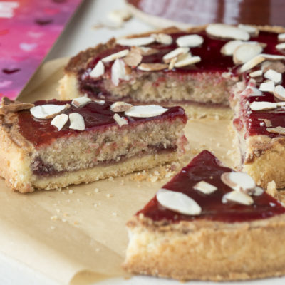 Raspberry Jam and Frangipane Tart